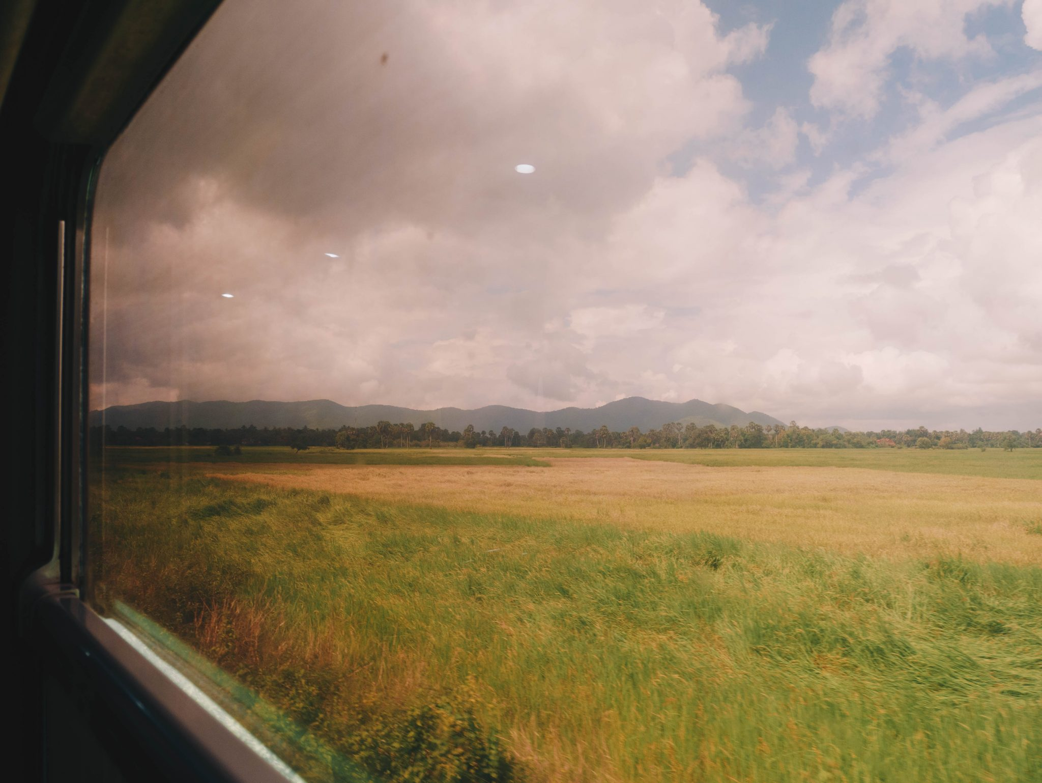 Train View from Phnom Penh to Kampot